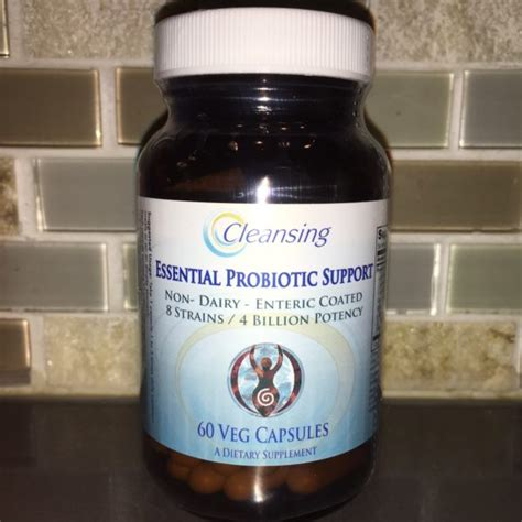 Best Probiotic For Detox Cleanse Balance by Essential Probiotic Support Non Dairy Cleansing