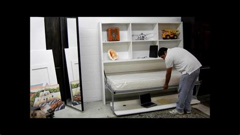 smart beds quot joker quot desk bed from smart beds of italy youtube