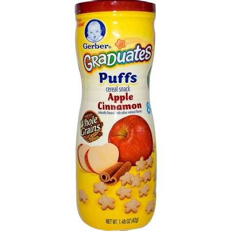 Gerber Graduates Puff By Susupedia gerber graduates puffs apple cinnamon 1 48 oz 42 g