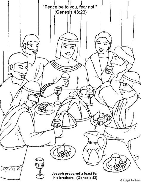 Coloring Page Joseph by 162 Best Images About Bible Joseph On