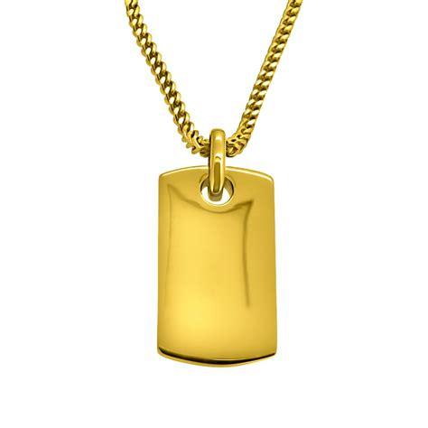 HipHopBling Gold Dog Tag Pendant   Gold Pendant Sets   HHBP01G