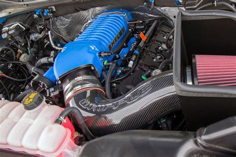 shelby brings  blue thunder  sema  hp   truck carscoops