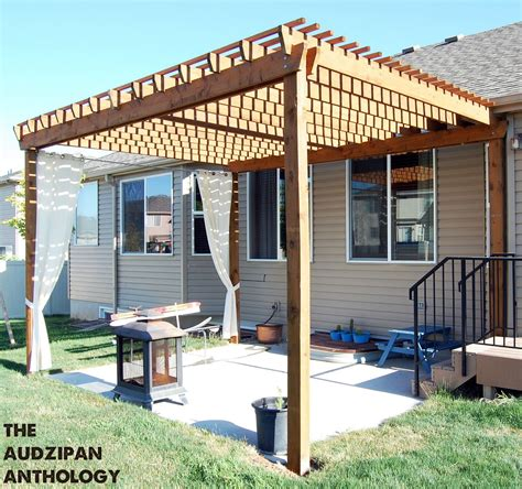 Lave Patio by Diy Backyard Pergola Use More Wood Beams For Less Sun