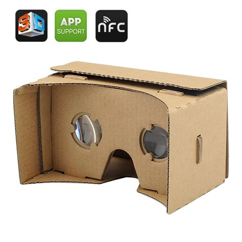 Cardboard Reality For Smartphone diy 3d cardboard glasses for iphone and android phones nfc mobile phone reality