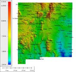 New Mexico Elevation Map by Topocreator Create And Print Your Own Color Shaded