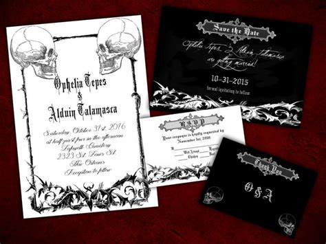 printable halloween wedding invitations two souls gothic halloween wedding invitation save the