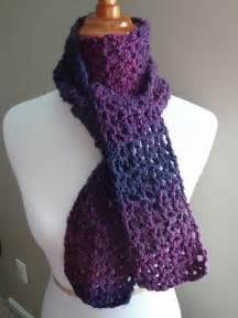 fiber flux free crochet pattern blueberry pie scarf