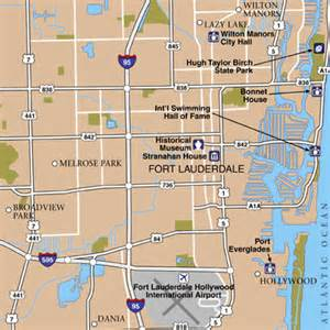 map of fort lauderdale florida area fort lauderdale international airport airport