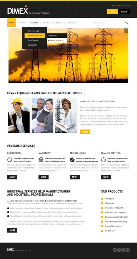 drupal themes gmal 6 industrial drupal themes free premium templates