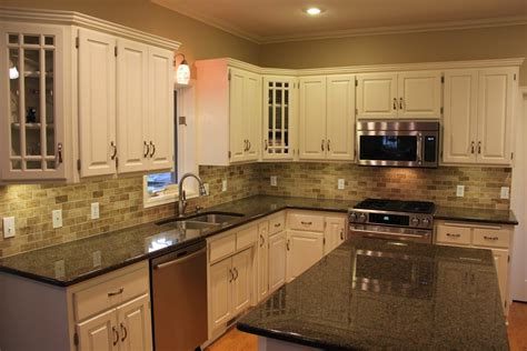 kitchen backsplash ideas with white cabinets and dark countertops pergola gym transitional