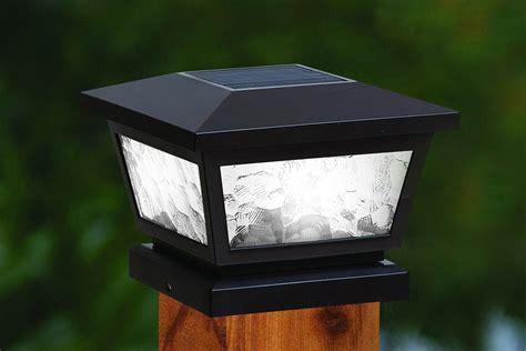 black solar lights fairmont solar post cap lights white or black
