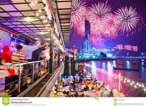 how is new year celebrated in thailand new year celebrations in pattaya stock photo image