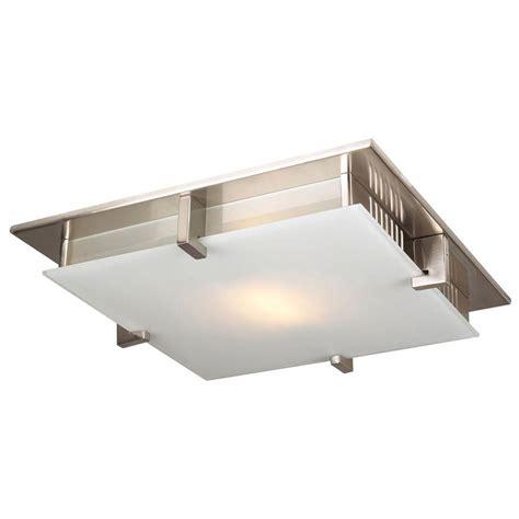 Satin Nickel Flush Mount Ceiling Light Plc Lighting 1 Light Ceiling Light Satin Nickel Acid Glass Flush Mount Cli Hd907sn The