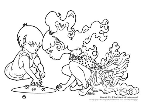 marble playing coloring pages coloring pages