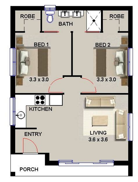 floor plans for 2 bedroom granny flats 2 bedroom granny flat pinteres