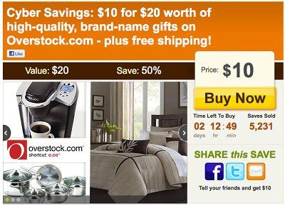 Overstock Discount Gift Card - overstock com 20 gift card for only 10 while supplies last