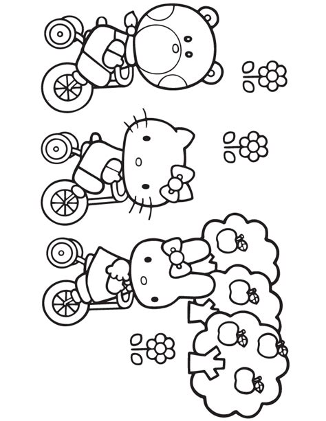 coloring pages hello kitty and friends friends hello colouring pages