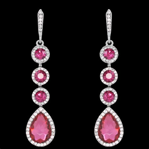 aliexpress buy pink hanging earrings