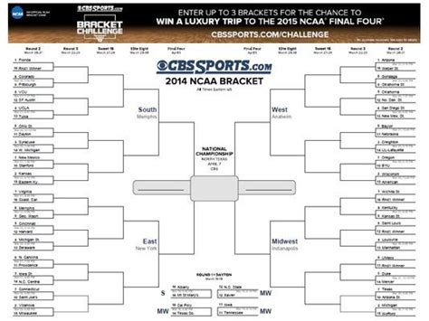 2016 cbs march madness brackets march madness tv schedule printable search results