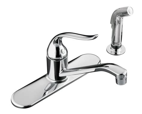 single control kitchen faucet kohler coralais single control kitchen sink faucet in