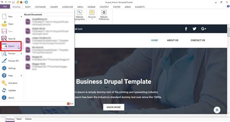 Drupal Theme Upload | how to upload install and configure templatetoaster