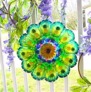 Glass Plate Garden Flowers Glass Garden Plate Flower Yard Flower Glass Plate Flower