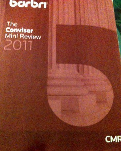 Conviser Outline by Barbri The Conviser Mini Review Mbe Subject Review 2011 2012 Multistate Bar