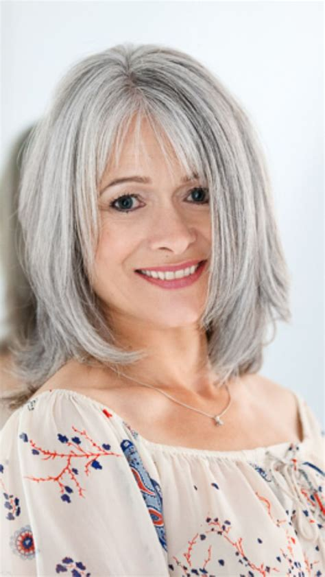 grey hair on mid length hair 25 trending gray hairstyles ideas on pinterest short