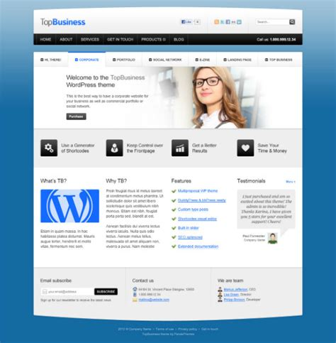 28 professional website template free download