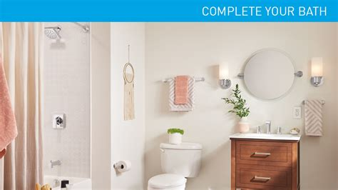 Moen Genta Single Hole Single Handle Bathroom Faucet In Spotlight Bathroom Accessories