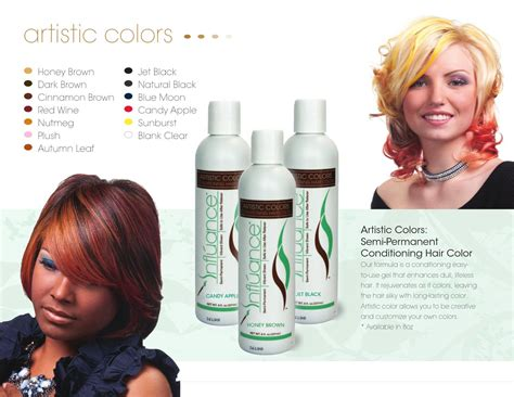 influance hair dye infl 250 ance brochure by influance hair care issuu