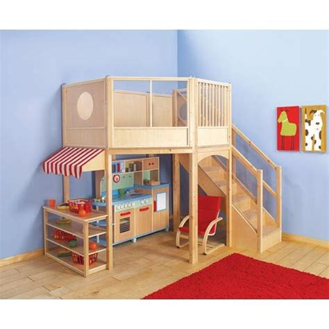 Bunk Bed With Play Area Market Loft For The Playroom Kiddie Design Kid Furniture Play Sets And