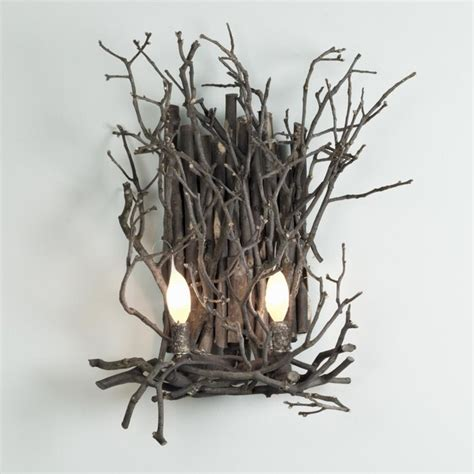 Twig Wall Sconce Appalachian Twig Sconce 2 Light Wall Sconces By Shades Of Light
