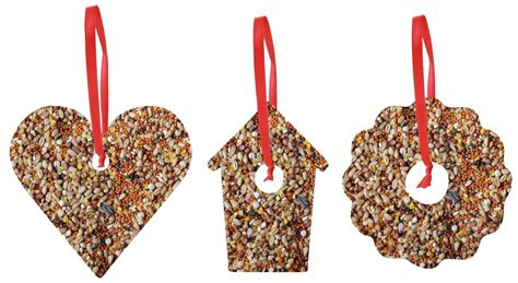 homemade bird seed ornaments how to make homemade bird food