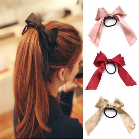 Ties Hair bow elastic hair ties hair band hair ribbon ties hair rope