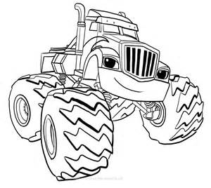 blaze coloring crusher of blaze and the machines coloring pages