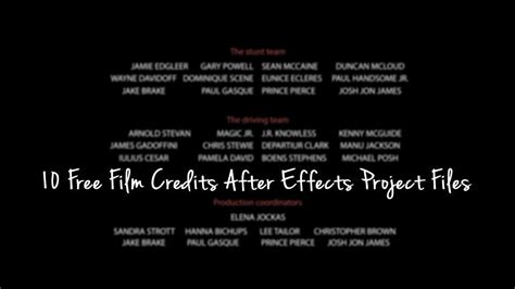 end credits template 10 free credits after effects project files
