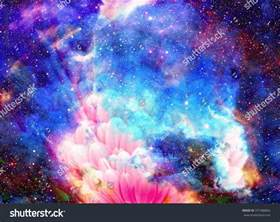 color galaxy space flower color galaxy background stock