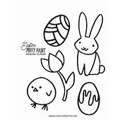 Easter Puffy Paint Window Clings  ILoveToCreate