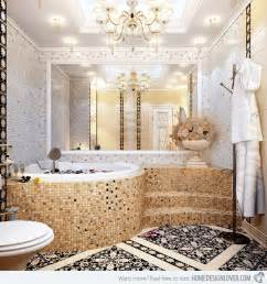 bathroom mosaic tile designs 16 unique mosaic tiled bathrooms home design lover