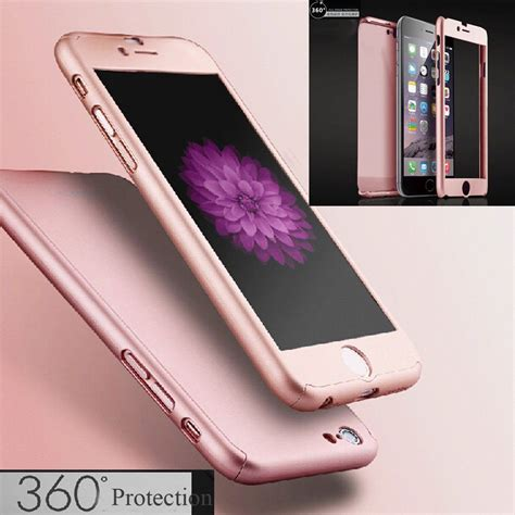 Casing 360 Iphone 6 6 Hardcase Free Tempered Glass 360 176 hybrid tempered glass acrylic cover for iphone 6 6s 7 plus ebay