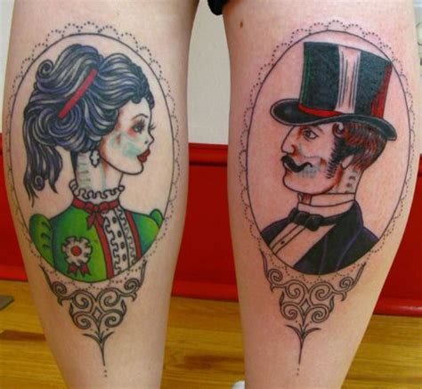 vintage tattoo couple victorian couple by sunnybuick via flickr cool things
