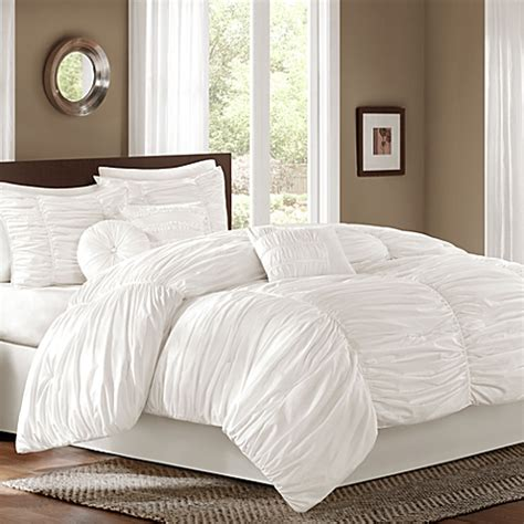 bed bath and beyond comforter sets queen buy sidney queen 7 piece comforter set in white from bed