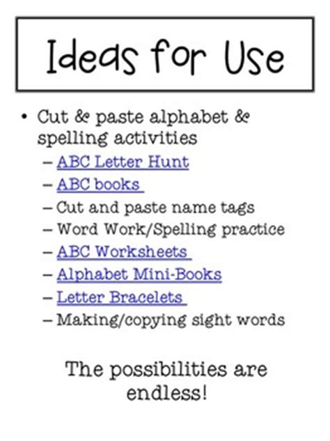 printable magazine letters for literacy station printable magazine letters alphabet a z word work