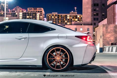 rose gold lexus 2016 lexus rcf fitted with 20 inch bd11 s in polished rose