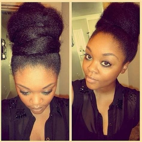 afro puff pocket bun hairstyles afro puff twist bun updo lovely my hair my way