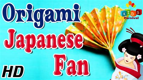 How To Make A Japanese Fan Out Of Paper - origami how to make japanese fan simple tutorials in