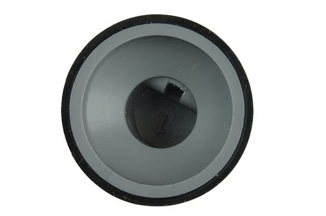 Knobs R Us by Black Rubber Knob 14x16mm 6mm D Flatted Shaft