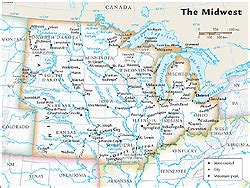 us midwest region map midwestern united states middle west u s midwest u s