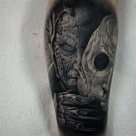 two face tattoo two mask elaxsir